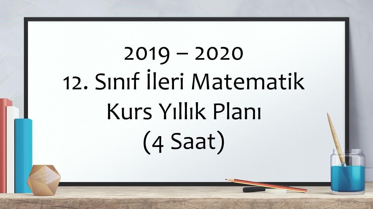 12.Sınıf İleri Matematik Kurs Yıllık Plan